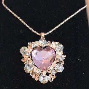 Stunning Betsey Johnson Heart Necklace! NWT!